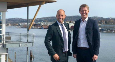 Emil Eriksrød og Stian Lande Iversen i R8 Group