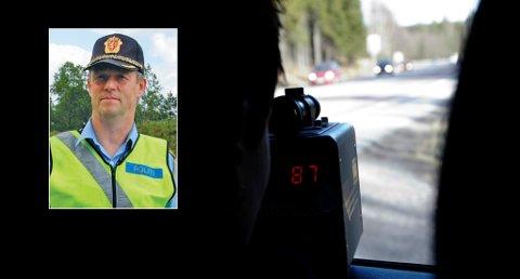 SVARTSKOG, AKERSHUS,  20080317: Politiet følger trafikken nøye gjennom hele påsken og hadde tirsdag  farts-  og promillekontroll  på E18 ved Svartskog i Akershus. Foto: Cornelius Poppe / SCANPIX