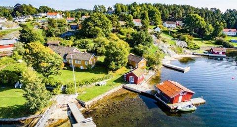 Denne hytten på Bærø i Kragerø ble sogt for 12 millioner.