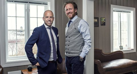 KAMERATENE: Emil Eriksrød og Christian Sønstebø bygde opp eiendomsselskapetValore sammen. Der ligger det bruttoverdier for opp mot 200 millioner kroner.