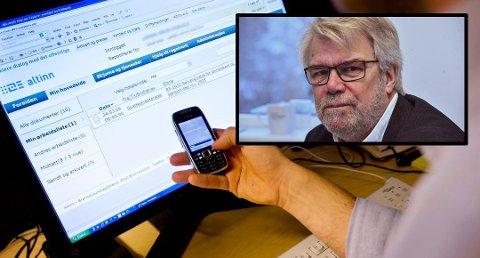 ADVARER: - Skatteetaten sender aldri e-post med lenker som du skal klikke på, sier sikkerhetssjef i Skatteetaten Svein Mobakken. Foto: (Skatteetaten)