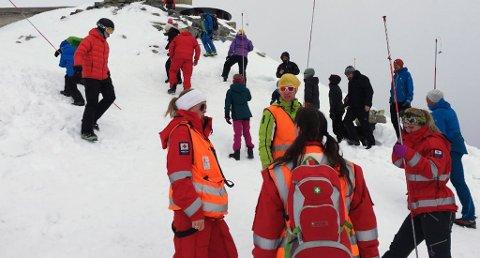 Røde Kors Telemark hadde ingen aksjoner skjærtorsdag. Dette bildet er tatt ved en tidligere anledning. Foto: Telemark Røde Kors