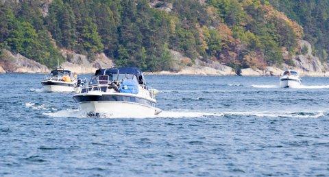 Drøbak  20180731. Fritidsbåter på vannet i drøbakssundet, i Oslofjorden. Foto: Vidar Ruud / NTB scanpix