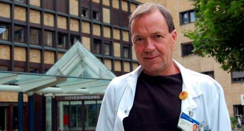 GÅTT NED: - Vi antar at et lavt stressnivå kan være en direkte årsak til dette i og med at økt nivå av såkalte stresshormoner kan bidra til slike tilstander, sier klinikksjef Per Urdahl på medisinsk klinikk ved Sykehuset Telemark.