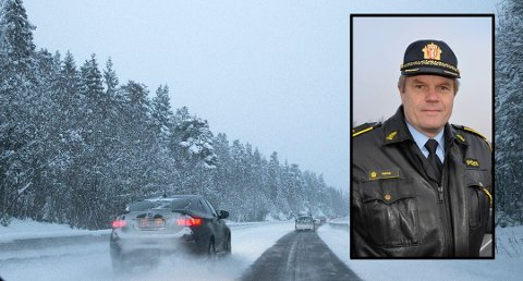 UP-sjef i Telemark og Vestfold, Andreas Rødø, lover at politiet vil følge godt med på vinterveiene.