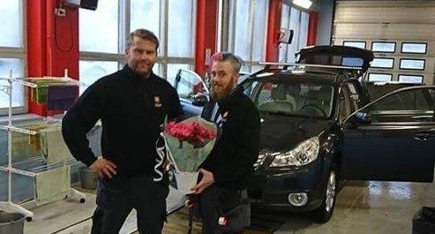 Til venstre (daglig leder) Henning Wick og til høyre (assisterende) Victor Hofsøy