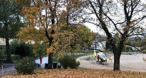 LUFTAMBULANSE: Til voldshendelse på Kapp Foto: Kjetil Lysengen/OA