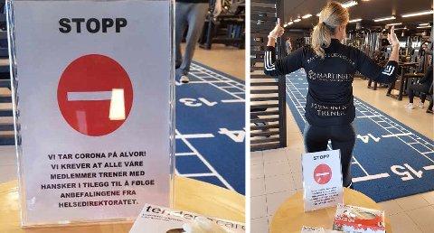 TAR SINE FORHOLDREGLER: Karoline Kristoffersen og resten av de ansatte hos Martinsen Gym og Rehabilitering på Raufoss.