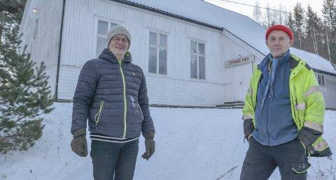 Dypvåg grendeHus: Geir Grimsland og Stig Sevenius har fått varsel fra Opllysningsvesenets fond om ytterligere en dobling av festeavgiften. Foto: Frode Gustavsen