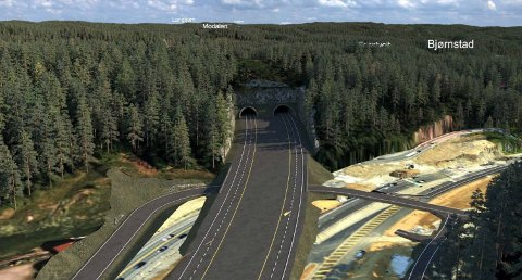 Her ved Rømyr har Nye Veier gått vekk fra sitt tidligere forslag om å legge veien gjennom en skjæring, og vil i steden lage en tunnell på 200 meter.