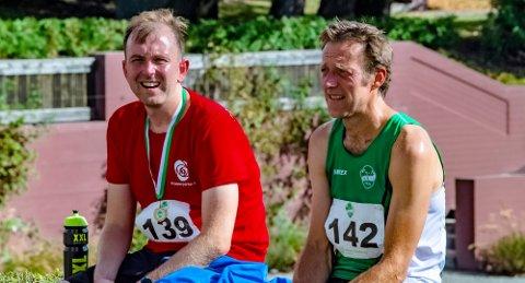 GODT AVBREKK: Edvin Søvik (Ap) og Olav Fjeld Kraugerud (V) fikk et etterlengtet avbrekk fra valgkampen med løpet Årunegn Rundt, der Kraugerud ble den raskeste.