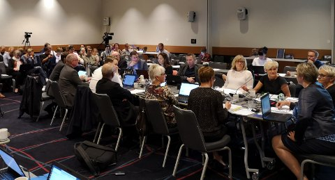 Styremøtet foregikk på Værnes onsdag. Foto: Nord universitet.