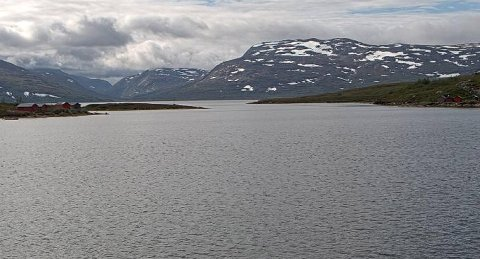 Balvatnet i Saltdal kommune viste 9,6 grader onsdag formiddag.
