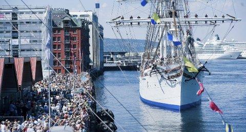 I 2014 var det over en halv million besøk fordelt på 184.000 personer som var på Tall Ships Races i Bergen.