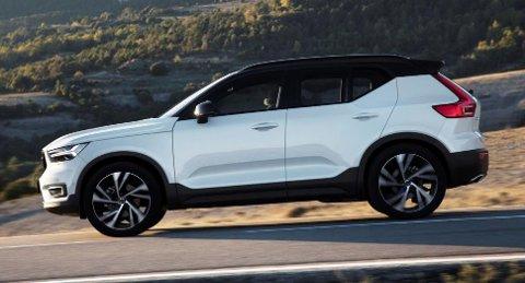KANTETE: Volvo går for mer kantete linjer på XC40. Det er knekken på C-stolpen som er den mest spesielle delen av designet.