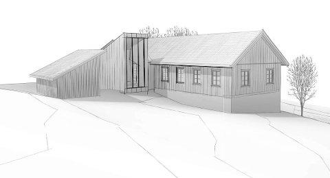 TILBYGG: Slik er skissen av det planlagte tilbygget på Kittelsemuseet.