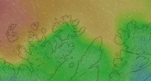 """DET BLÆS: Om du befinner deg på de """"riktige"""" stedene, så kan vinden komme opp i noen skikkelige vindkast."""