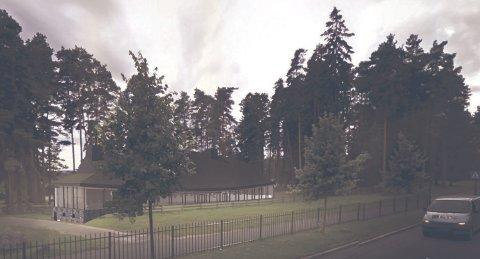 Kulturhuset: Langhuset skal bygges på samme sted som ungdomshuset, ved riksveien i Karlshus. Det skal blant annet få bibliotek, kulturscene, kafé og aktivitetsrom. 8Illustrasjoner: BAS Arkitekter
