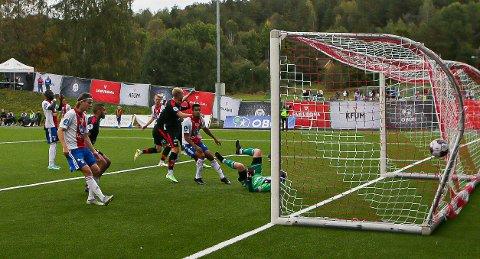 Scoring: Mads Nielsen satte inn dagens eneste FFK-scoring.