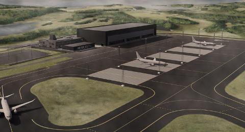 I løpet av denne måneden starter arbeidet med hangaren for de nye maritime patruljeflyene på Evenes. Det første flyet kommer til Evenes i februar.
