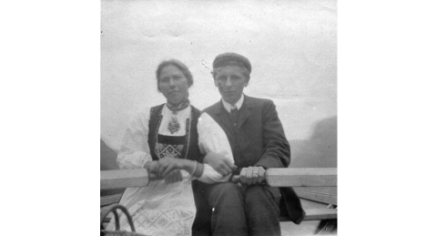Gro og Olav Holm i 1907