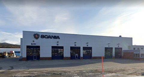 FAUSKE: Scania på Fauske.