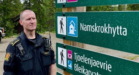 HAR KONKLUDERT: Førstepolitibetjent Torgeir Bakkland varslet at dette var en sak der de involverte kunne få reaksjoner i form av bøter. Etterforskninga av saken viste imidlertid at de involverte handlet etter beste mening.