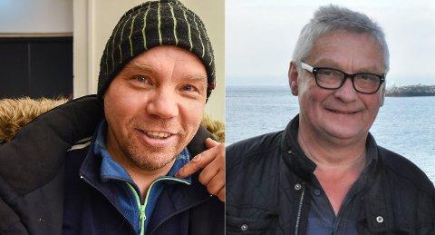 HAR ANMELDT HVERANDRE: Reineier Aslak Aslak Aslaksen Sara (t.v.) og leder av Seiland Friluftsforening Oddmund Pedersen.