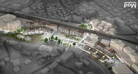 Torget på Nærbø kan få nytt sambrukshus for kultur og helsefunksjoner dersom rådmannen sitt budsjettforslag blir vedtatt.