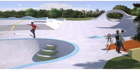 Vedtatt: Med fem mot fire stemmer vedtok formannskapet å framskynde byggingen av skateparken på Kalstad til åtte-ni millioner kroner. Ill.: Aktiv Park AS
