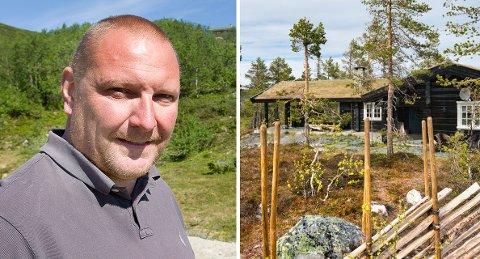 MISTET: Daglig leder Lars Johan Teien i Drømmehytta sier de mistet sin beste salgsperiode med påsken, men legger til at han ikke er redd for hyttemarkedet på Vegglifjell fremover.
