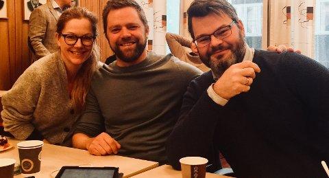 f.v.: Anja Johansen, Gaute Wahl, Svenn-Erik Tønnessen Busch