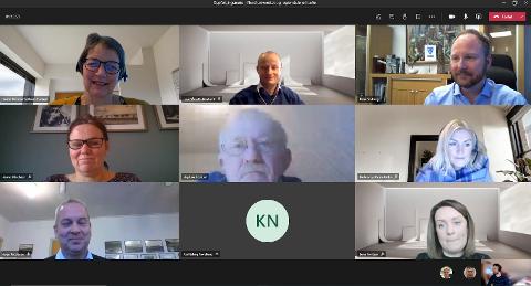 Deltakerne fra Nord universitet og regionrådene i Lofoten og Vesterålen har fram til nå hatt digitale møter pga. Covid-19.