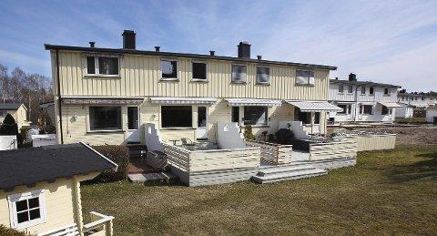 ØKER: Også i fjor hadde boligbyggelagene i Norge en økning i antall medlemmer. Her fra Ørejordet hvor mange av rekkehusene er en del av Vansjø boligbyggelag.
