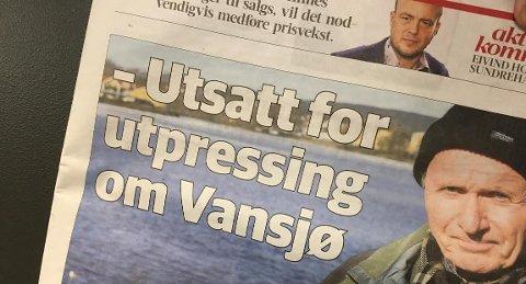 Debatt: Vansjø, DNT og grunneiere har vært i mediebildet den siste uken. faksimile av Msss Avis