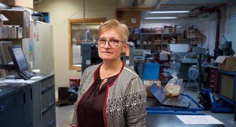 TRANGBODD: Daglig leder Bente Heiskel sier Lyngsalpan Vekst nå må flytte deler av virksomheten ut av kommunen.