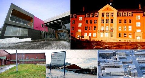 FEM VIDEREGÅENDE SKOLER: Breivang, Kongbsakken, Kvaløya, Tromsdalen og Ishavsbyen har forskjellige typer skolestart etter regjeringens anbefalinger om at skolene skal over på rødt nivå fra mandag-
