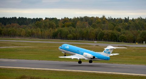 RETURNERER: 28. juni tar KLM av på Torp igjen. Selskapet varsler tre ukentlige avganger mellom Sandefjord og Amsterdam de første ukene.