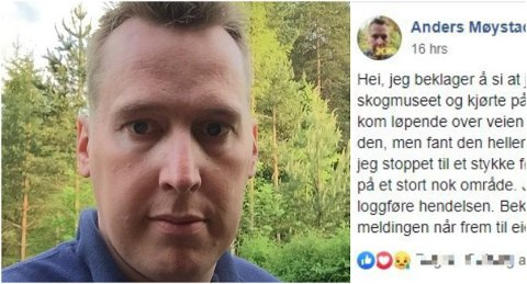– Jeg føler jeg bare gjorde min plikt som sjåfør, sier Møystad til Østlendingen. (Foto: Privat/skjermdump)