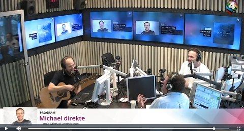 Vil til Rakkestad: Verken komiker eller korrespondent er i tvil om at det beste er å jobbe i Rakkestad Avis. (Skjermdump fra P4)