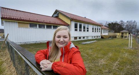 23-åringen Melissa Helene Fredriksen Johansen eier mer kvadratmeter hus enn de fleste bare kan drømme om. Selve leiligheten hennes ligger til høyre i bildet.