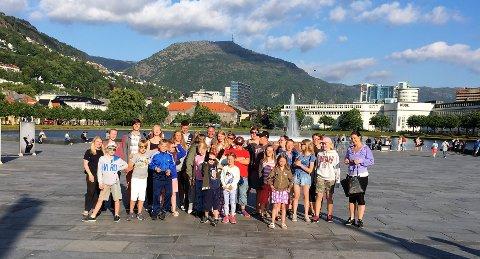 NORGESMESTERSKAP: Varteig og Hafslundsøy skolekorps har deltatt i NM for skolekorps i Bergen i helgen.