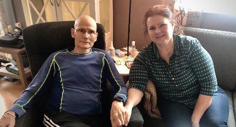 Øystein Lægreid er svært takknemlig at han har kona Monica som solid støttespiller  ved sin side de siste månedene av sitt liv. Ekteparet tenker ofte på dem som  må takle alvorlig kreftsykdom uten noen nære rundt seg.