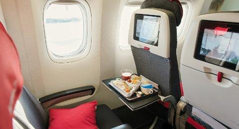 Det er mange som bestiller seg et måltid om bord når de er på utenlandsreise.