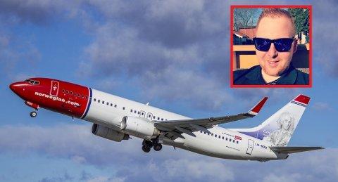 PÅ TUR: Stig Wang Johansen fra Hokksund tar med seg familien til Paris til våren. Etter at han hadde kjøpt flybilletter på Norwegian, trodde han noen forsøkte å svindle ham.