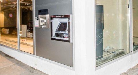 Denne minibanken har kommet opp på samme sted som den gamle minibanken til DNB var plasser i Moerveien.