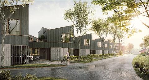 VIL BYGGE UT: Follohus AS ønsker å bygge 75 nye boliger i form av lavblokker og rekkehus på Solberg i Ås.