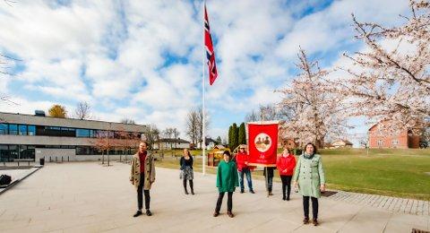 Appellantene møtte opp i Ås sentrum for å markere arbeidernes dag.