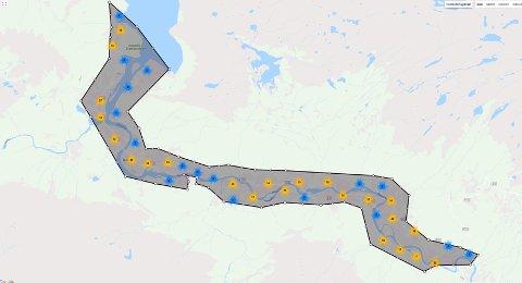 Stenges: Beboerne i dette området vil rammes av stengte vannkraner onsdag. Kart: Google