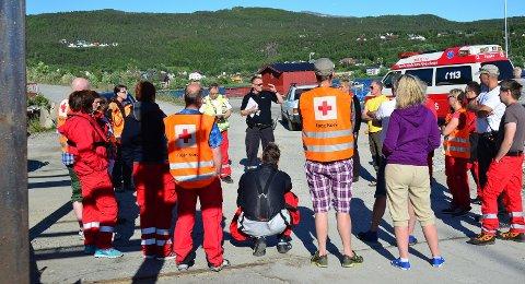 Ulykke: Store mannskaper var i aksjon etter ulykka med en vannscooter i Fauskevika i juni, 20 14.